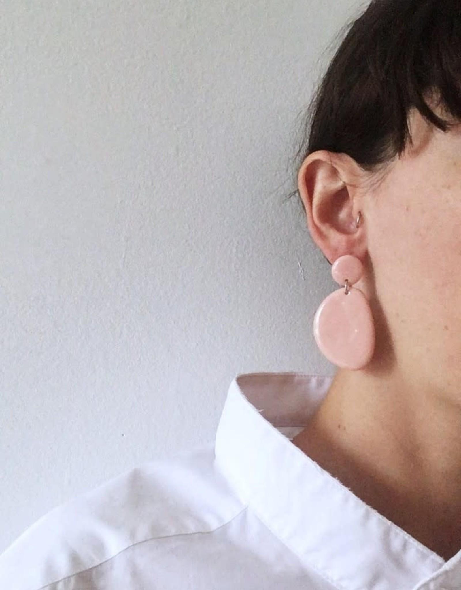 CartoucheMTL Boucles d'oreilles Olive CartoucheMTL Rose