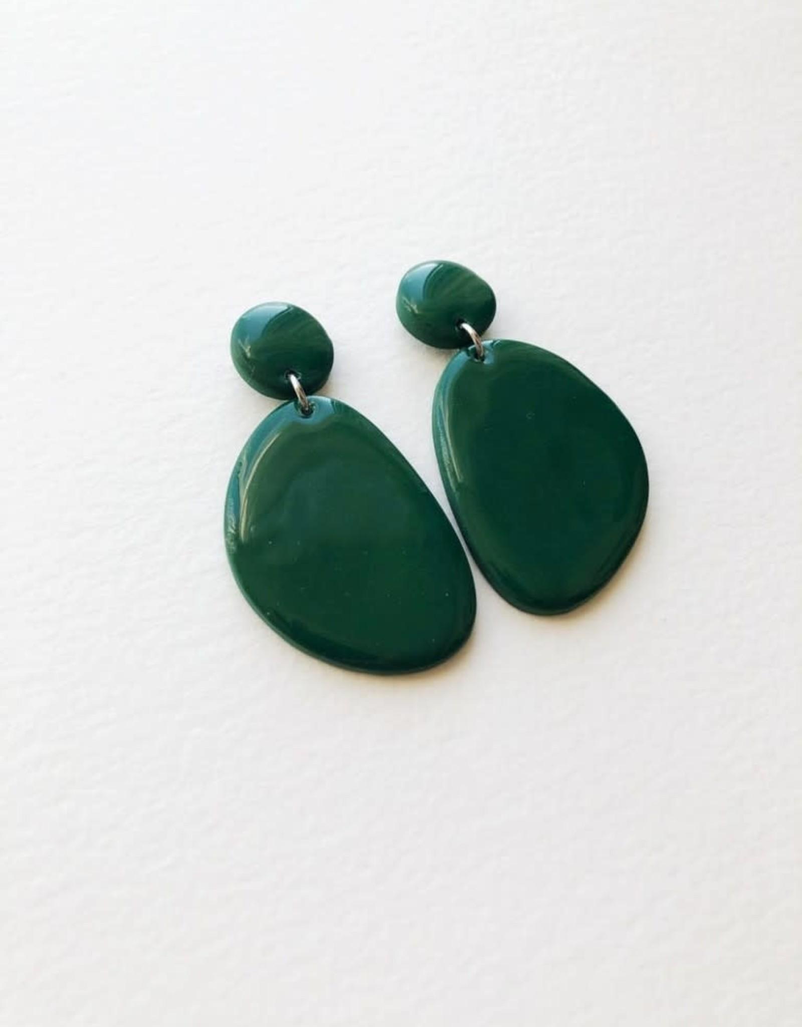 CartoucheMTL Boucles d'oreilles Olive CartoucheMTL Émeraude