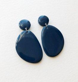 CartoucheMTL Boucles d'oreilles Olive CartoucheMTL Bleu foncé