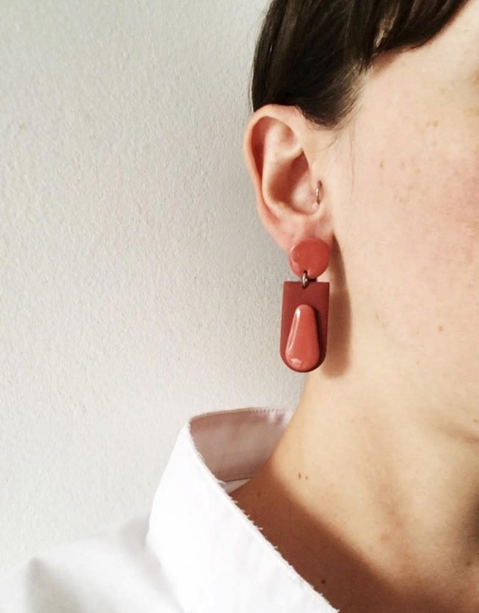 CartoucheMTL Boucles d'oreilles Joelle CartoucheMTL Terracotta