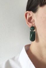 CartoucheMTL Boucles d'oreilles Joelle CartoucheMTL Émeraude