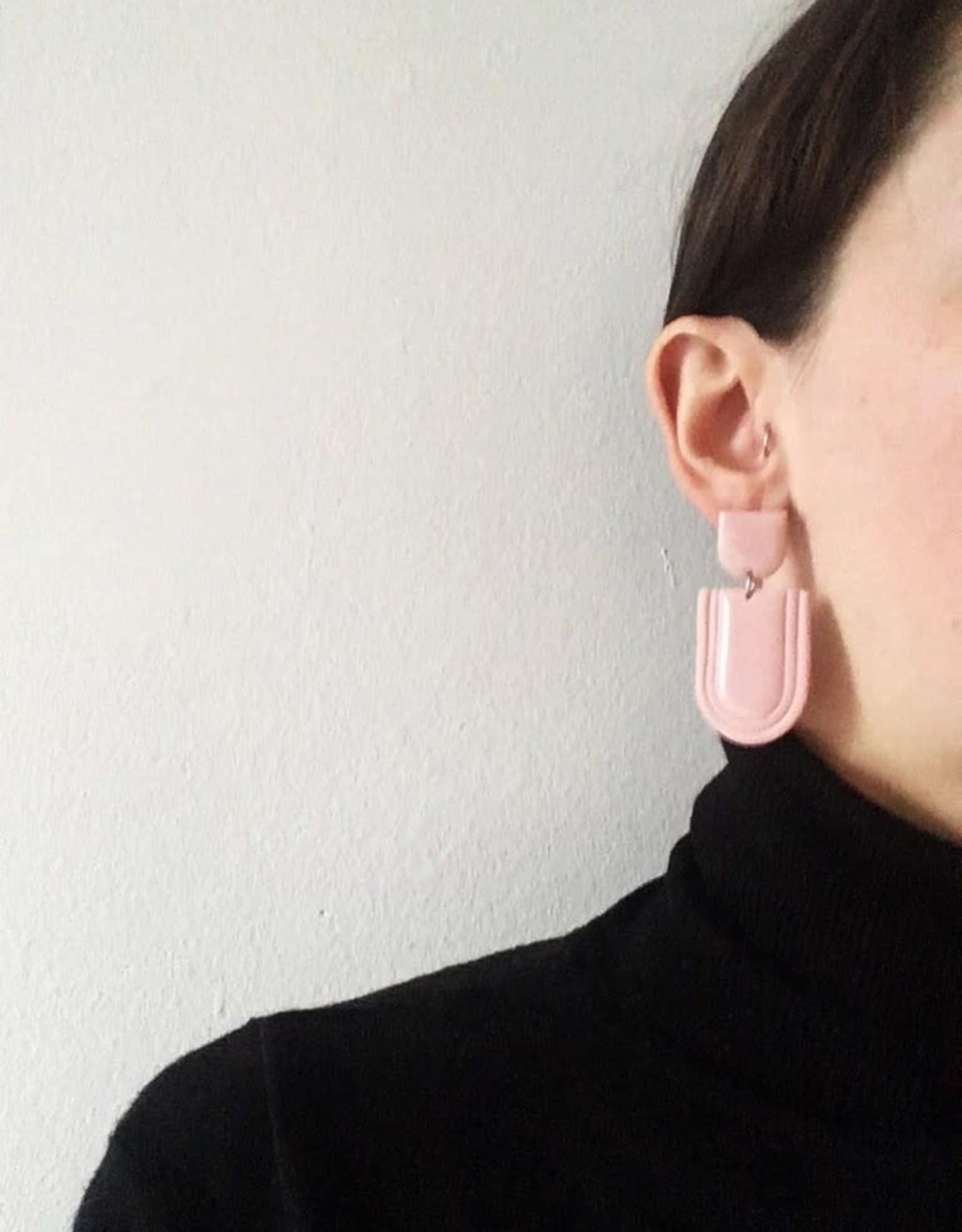 CartoucheMTL Boucles d'oreilles Élise CartoucheMTL Rose
