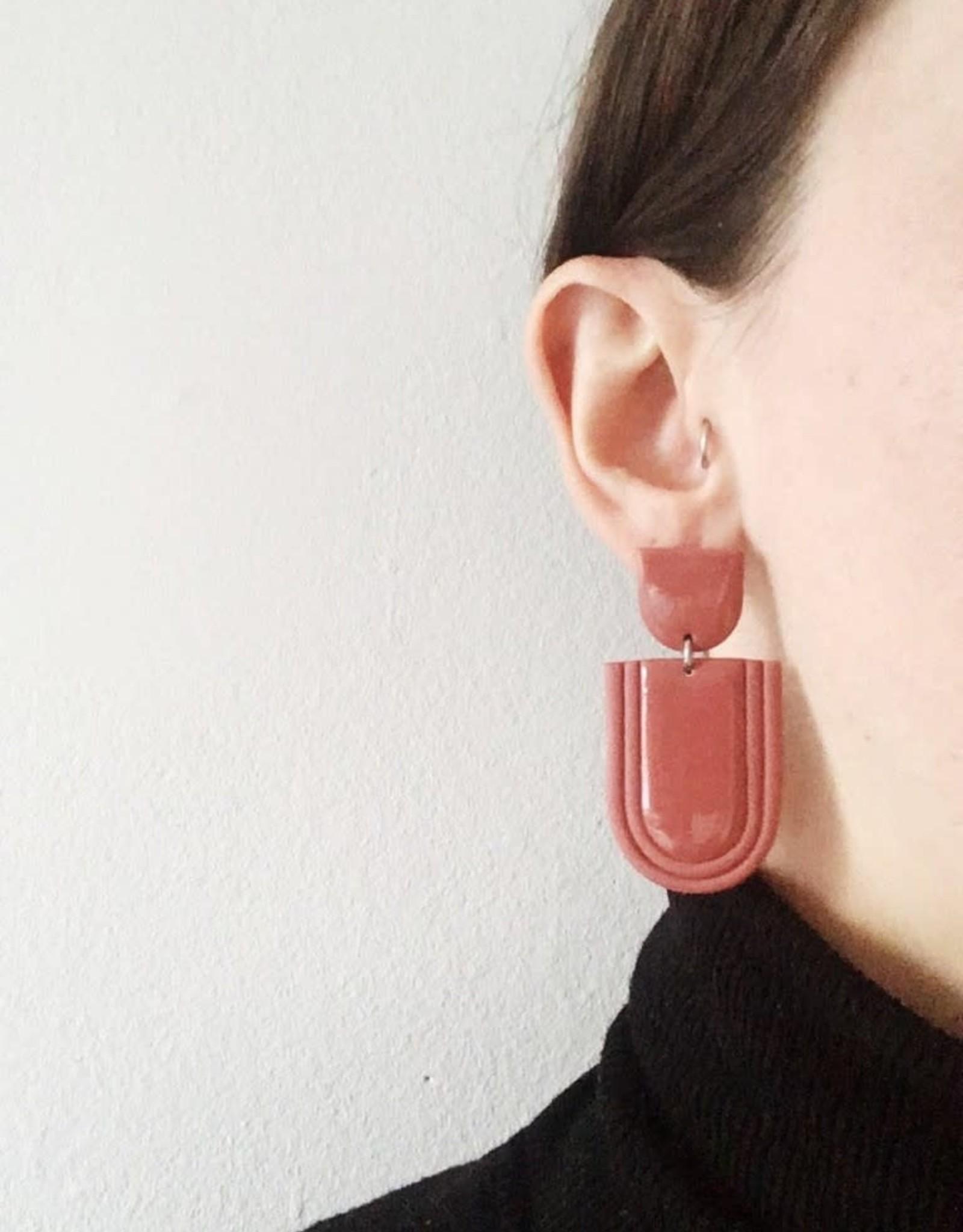 CartoucheMTL Boucles d'oreilles Élise CartoucheMTL Marsala