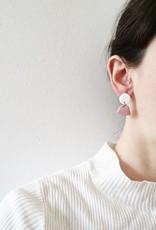 CartoucheMTL Boucles d'oreilles Émilie Blanc Confettis CartoucheMTL Emeraude