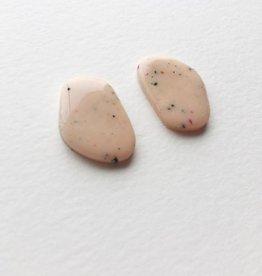 CartoucheMTL Boucles d'oreilles Inès CartoucheMTL Pêche confettis