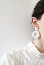 CartoucheMTL Boucles d'oreilles Suzanne CartoucheMTL Blanc confettis