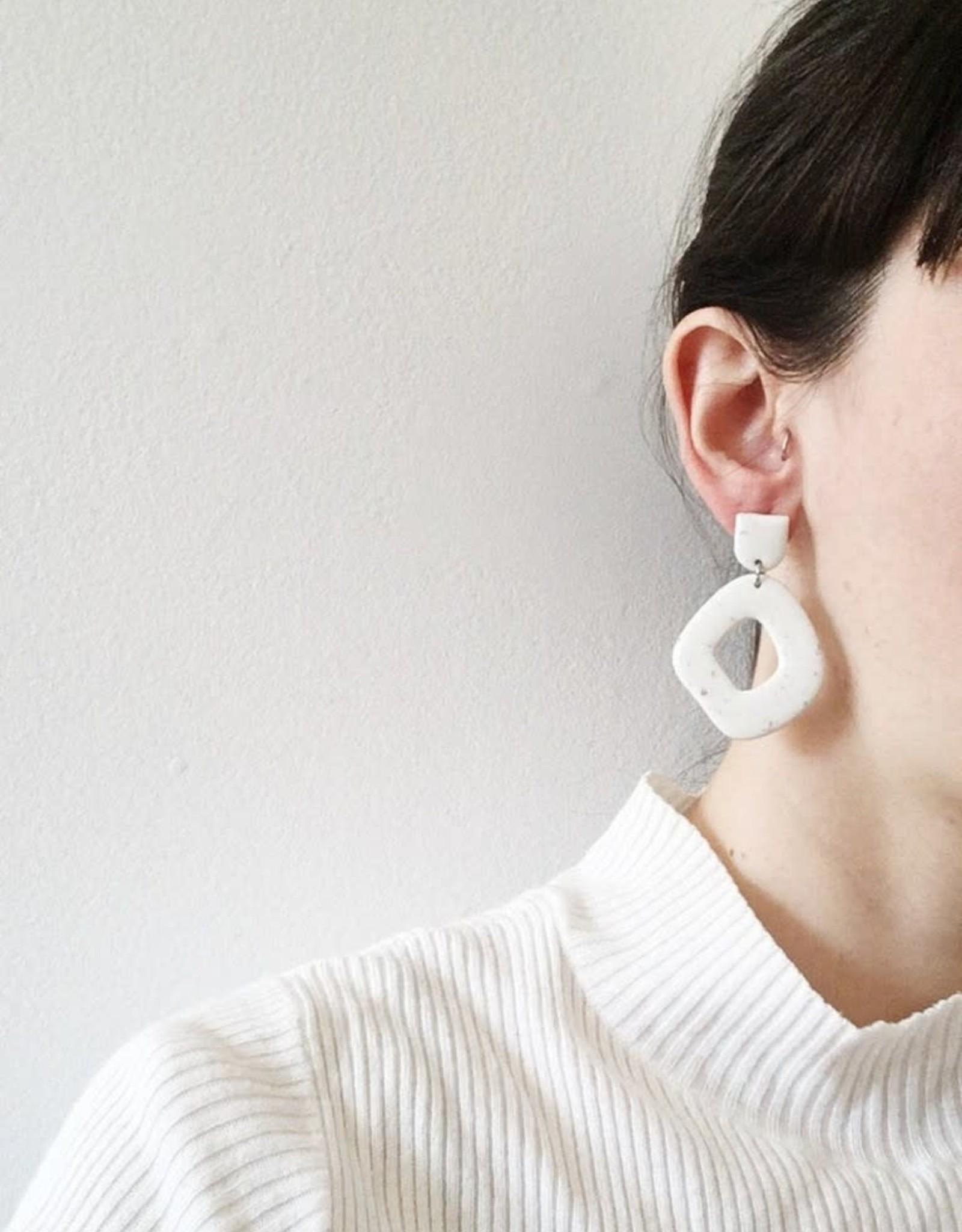 CartoucheMTL Boucles d'oreilles Suzanne CartoucheMTL Rose