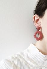 CartoucheMTL Boucles d'oreilles Suzanne CartoucheMTL Marsala