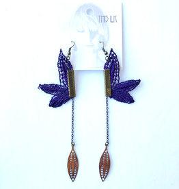 This Ilk Boucles d'oreilles Pendulum This Ilk Purple