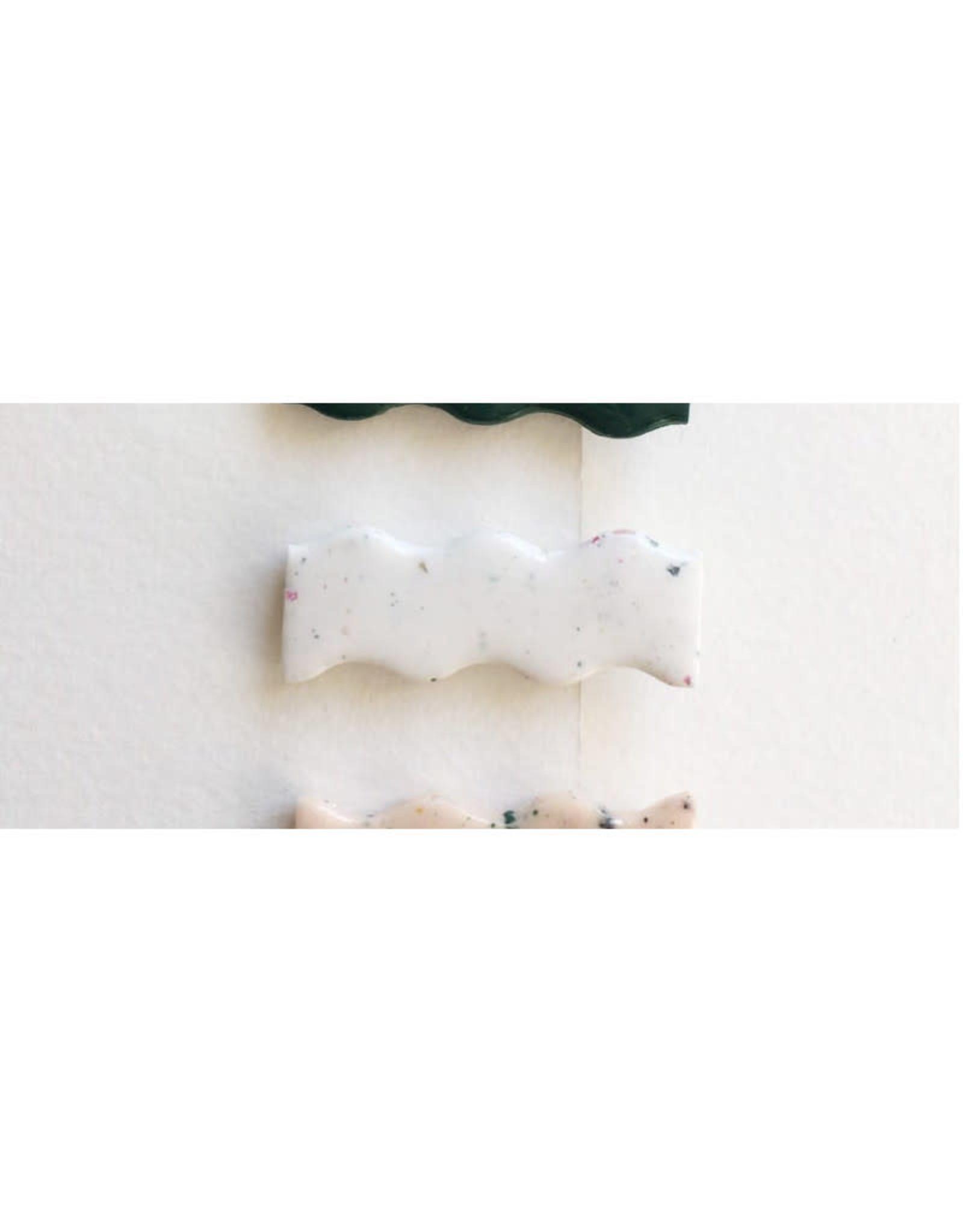 CartoucheMTL Pince à cheveux vagues CartoucheMTL Blanc confettis
