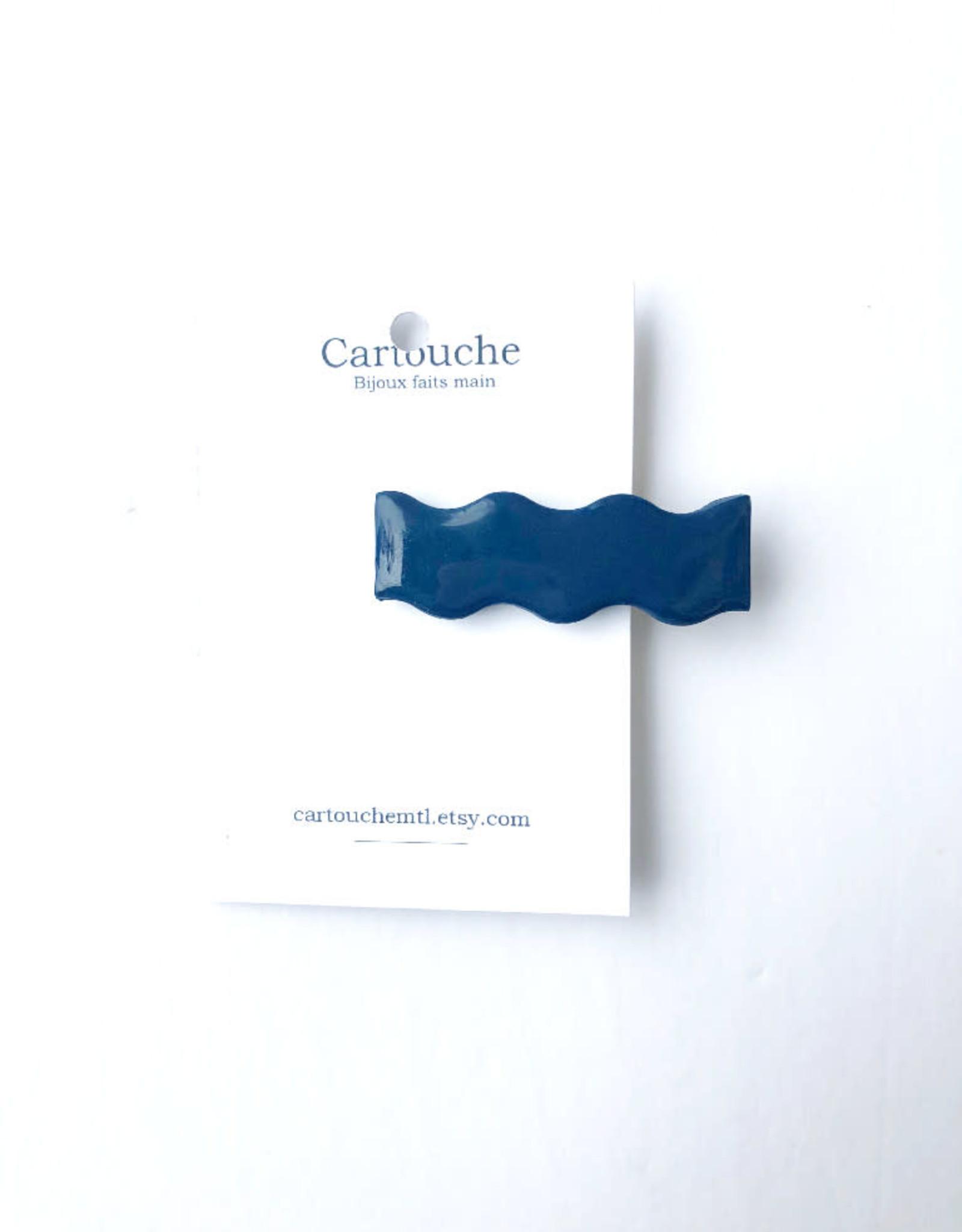 CartoucheMTL Pince à cheveux vagues CartoucheMTL Bleu foncé