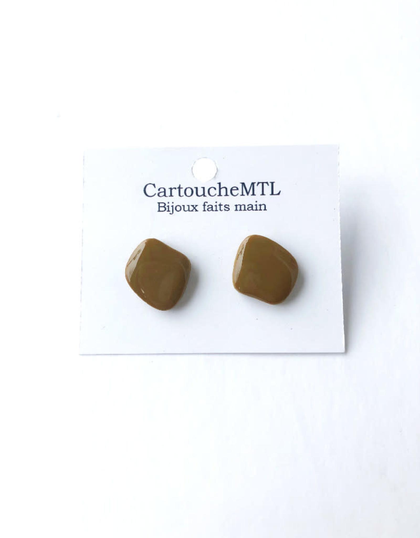 CartoucheMTL Clous d'oreilles CartoucheMTL Moutarde