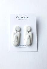 CartoucheMTL Boucles d'oreilles Joelle CartoucheMTL Blanc confettis