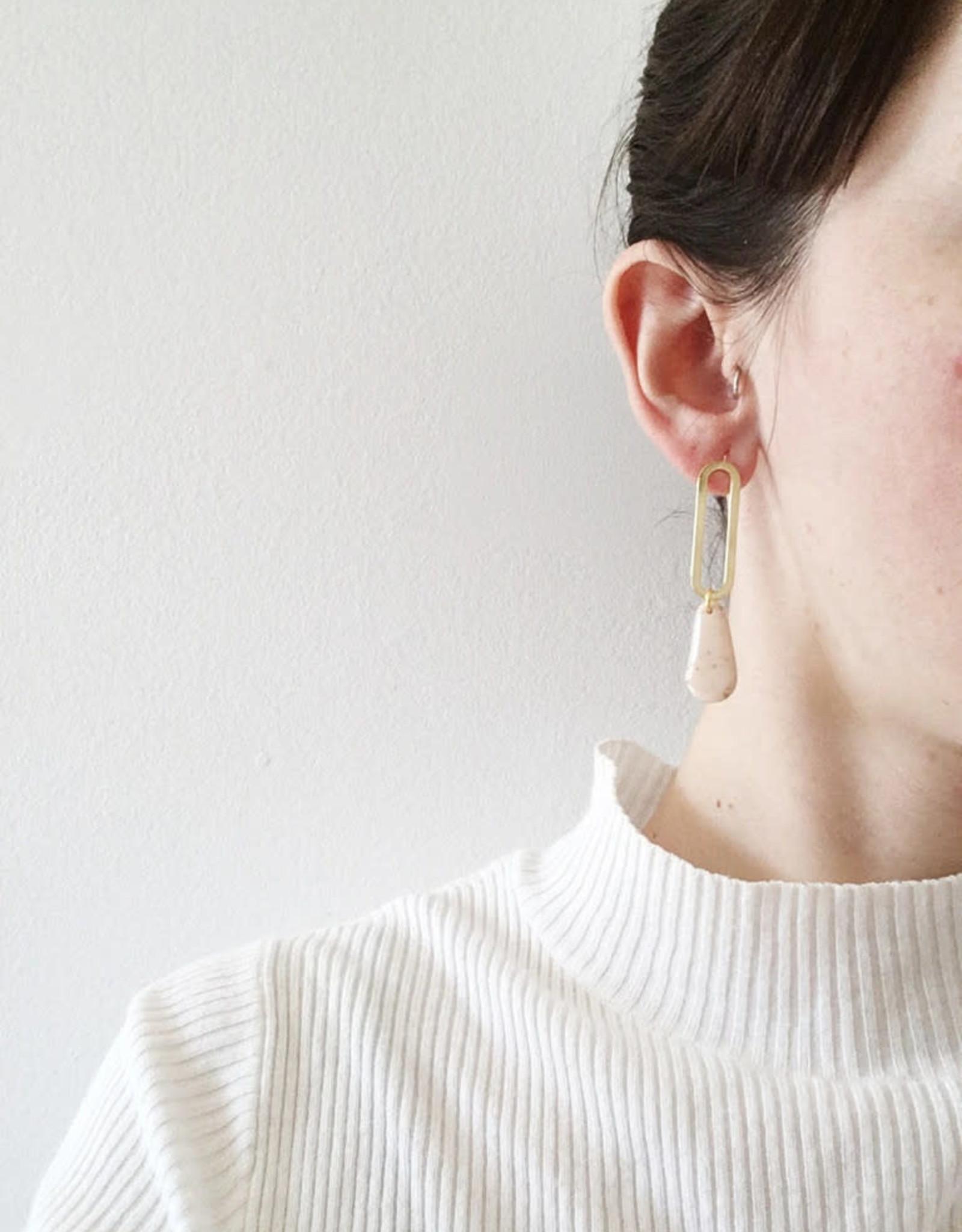 CartoucheMTL Boucles d'oreilles Marion CartoucheMTL Blanc confettis