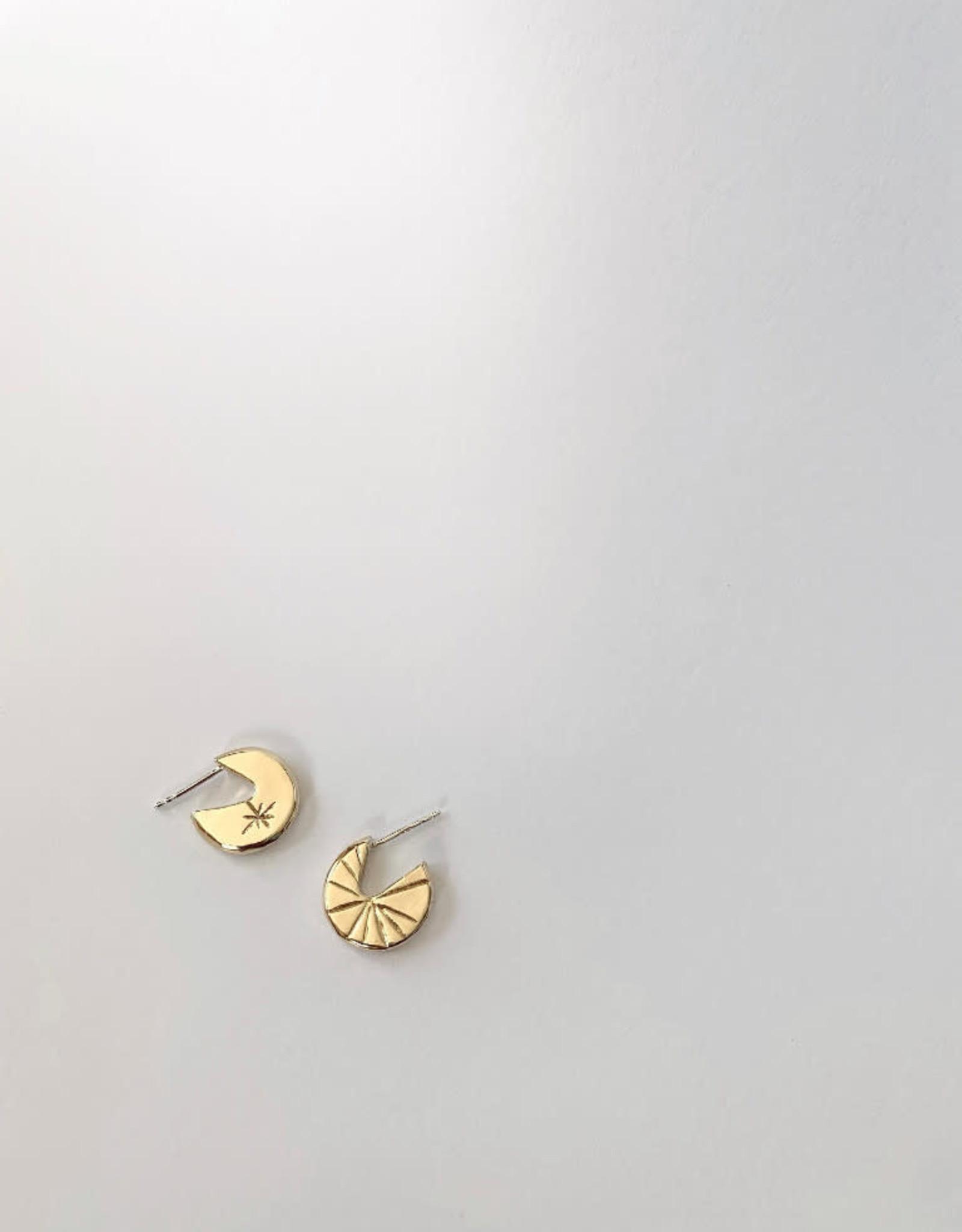 La Manufacture Boucles d'oreilles Ciel La Manufacture Laiton