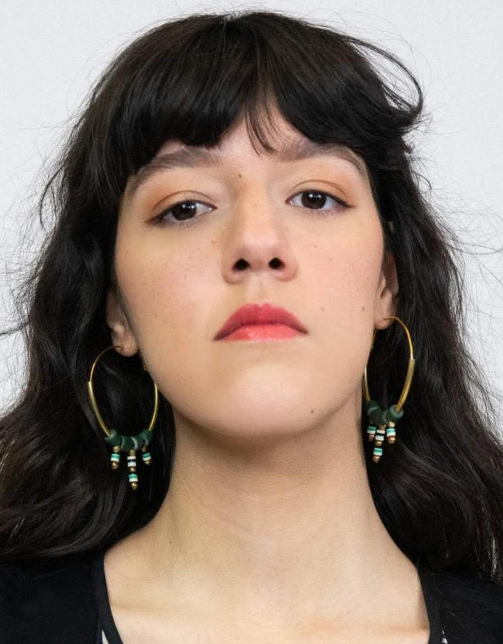 Kazak Boucles d'oreilles Bengarra PE21 Kazak Vert