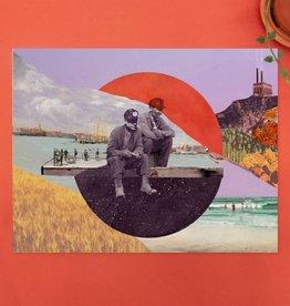 DRÉA Collage Affiche 11x14 La pause Dréa Collage