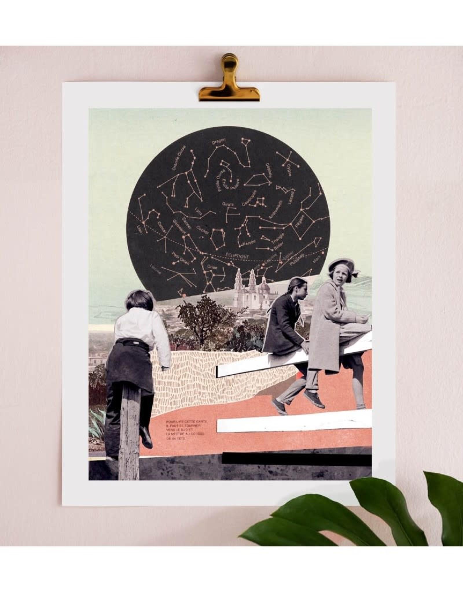 DRÉA Collage Affiche 11X14 Étoile Polaire Dréa Collage