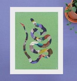DRÉA Collage Affiche 11X14 Serpent Néon Dréa Collage
