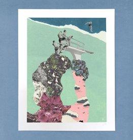 DRÉA Collage Affiche 11x14 Le plongeon Dréa Collage