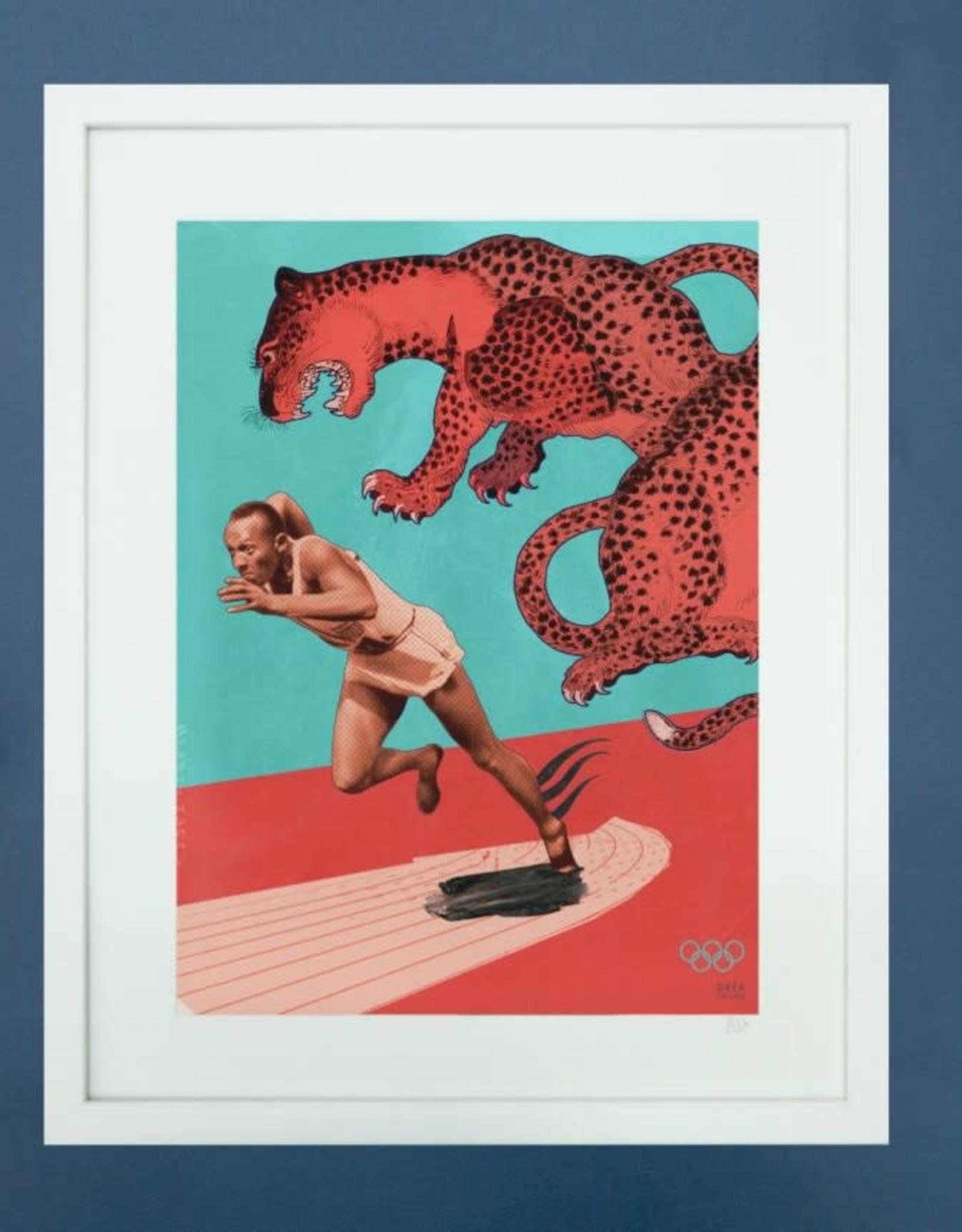 DRÉA Collage Affiche 8.5X11 Jesse Owens Dréa Collage