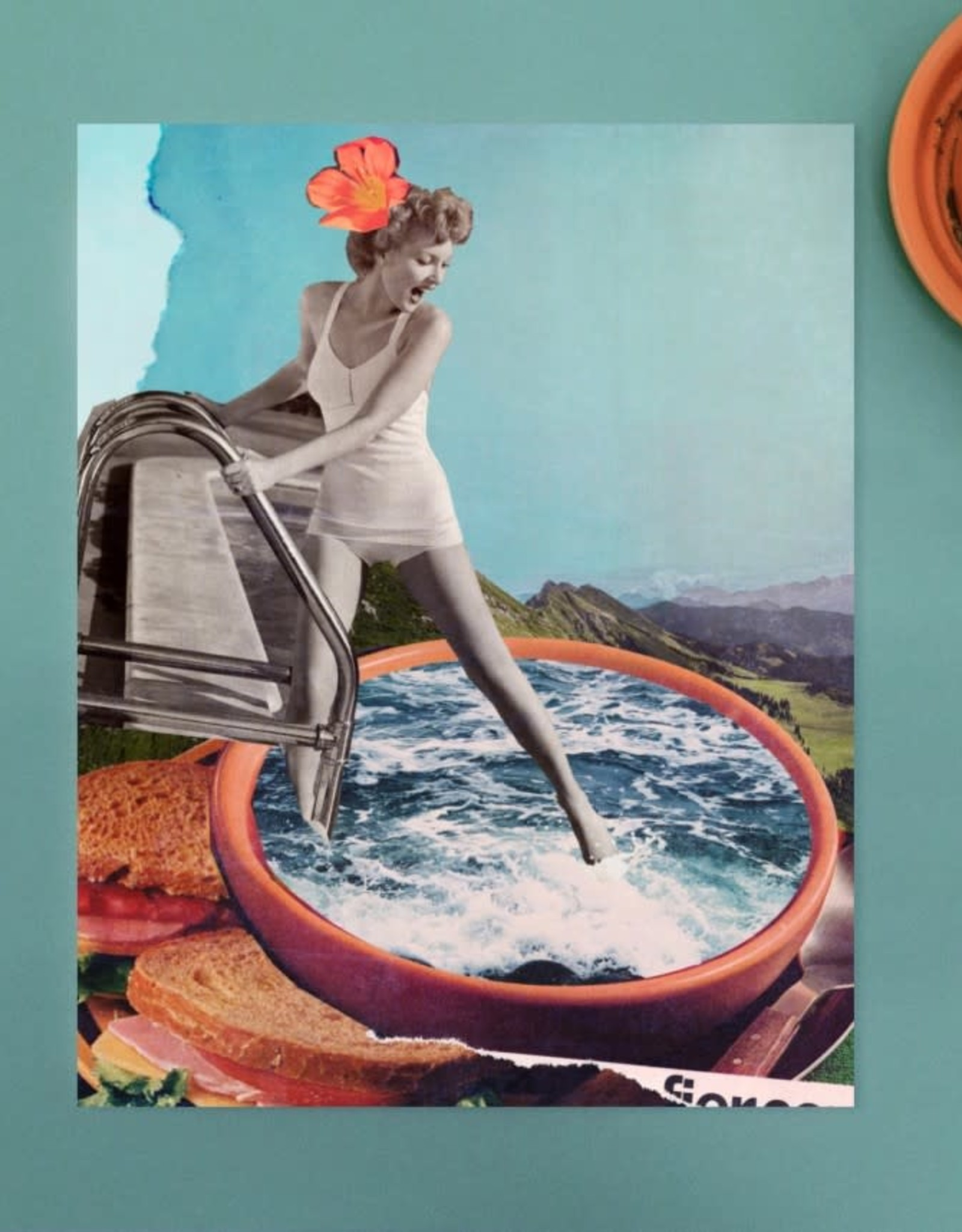 DRÉA Collage Affiche 8.5X11 Soup Dréa Collage
