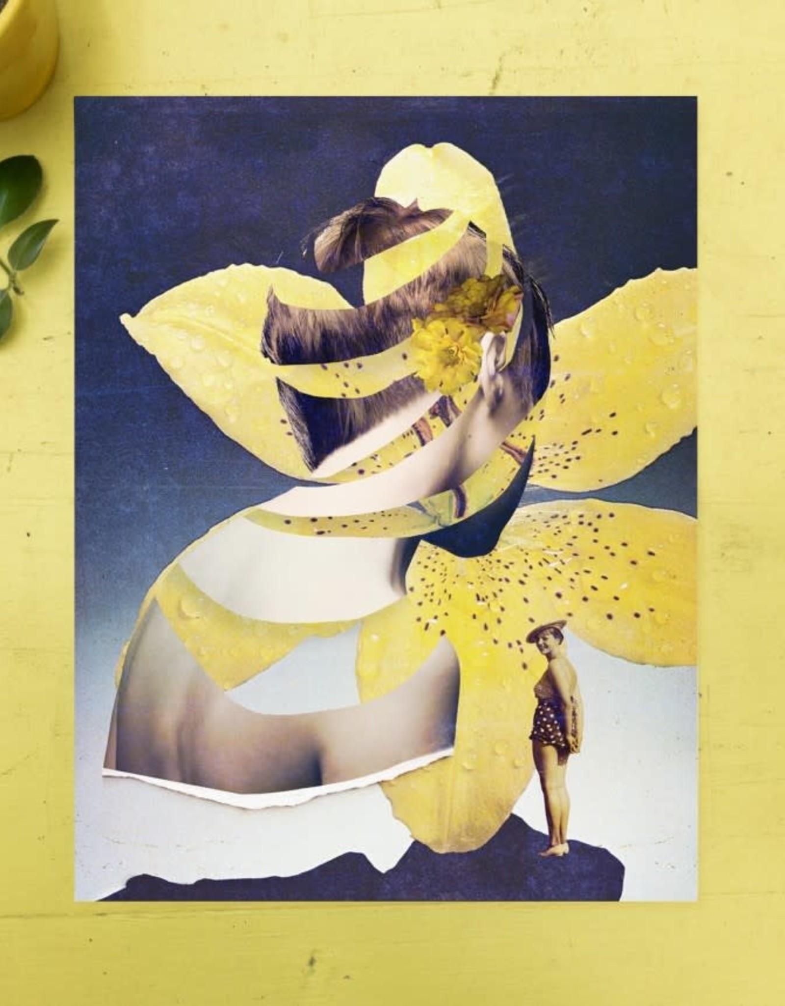 DRÉA Collage Affiche 8.5X11 Fleur de peau Dréa Collage