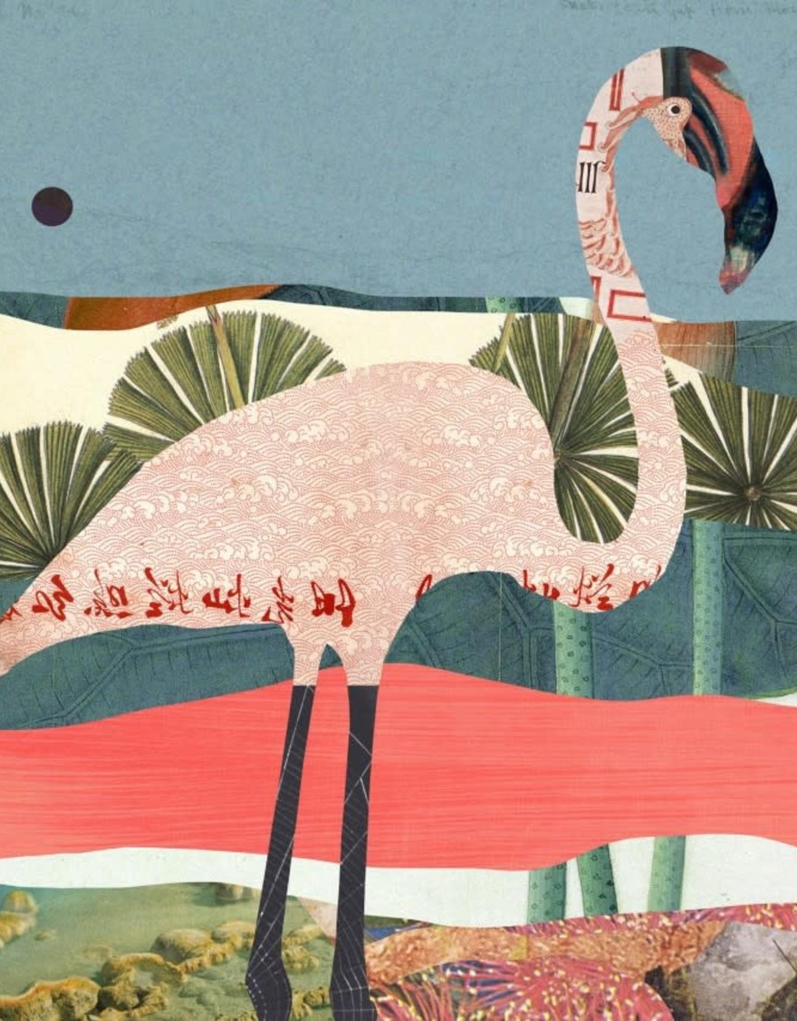 DRÉA Collage Affiche 11x14 Flamingo Dréa Collage