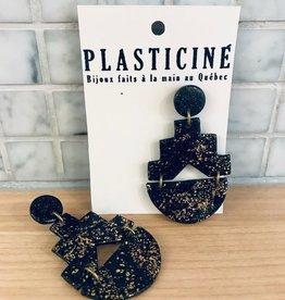 Plasticine Boucles d'oreilles Chandelier Plasticine Noir