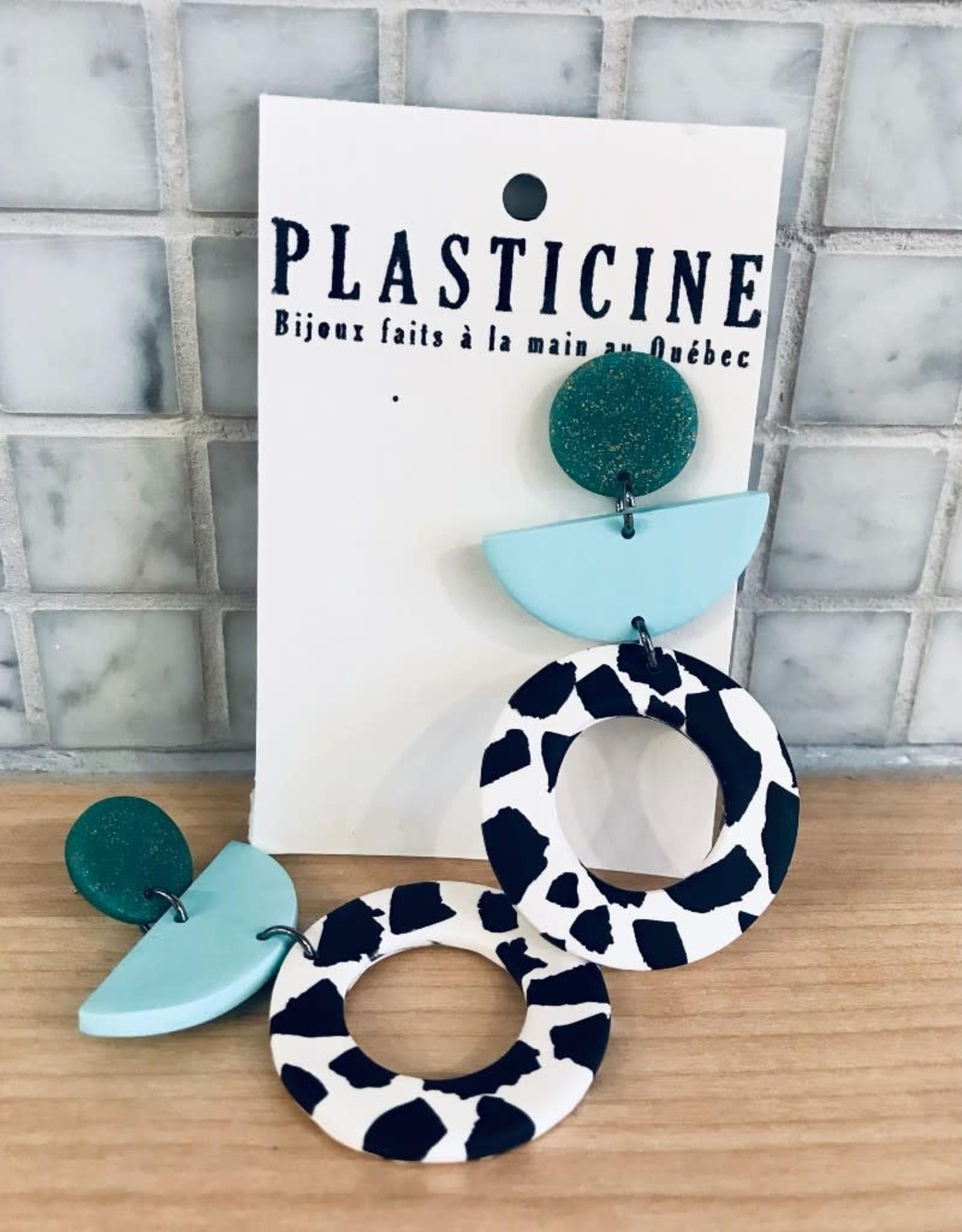 Plasticine Boucles d'oreilles Martha Plasticine Turquoise