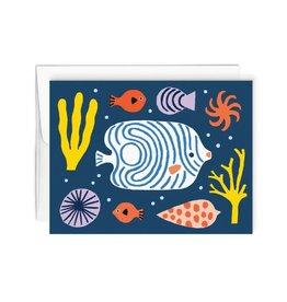 Paperole Carte de souhait Paperole Fond Marin