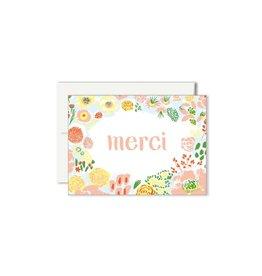 Paperole Carte de souhait Mini Paperole Fleurs Merci