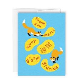 Paperole Carte de souhait Paperole Renards Merci