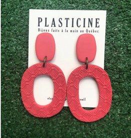 Plasticine Boucles d'oreilles Marianne AH2122 Plasticine Corail