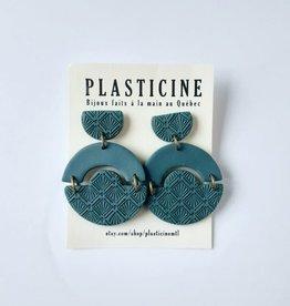 Plasticine Boucles d'oreilles Anna AH2122 Plasticine Sarcelle