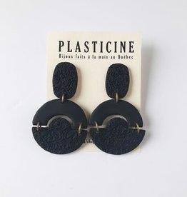 Plasticine Boucles d'oreilles Anna AH2122 Plasticine Long Noir