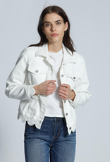 Driftwood Scallop White Denim Jacket