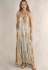 Lovestitch Tie Dye Halter Maxi Dress