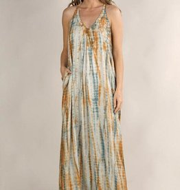 Lovestitch Tie Dye Halter Maxi Dress
