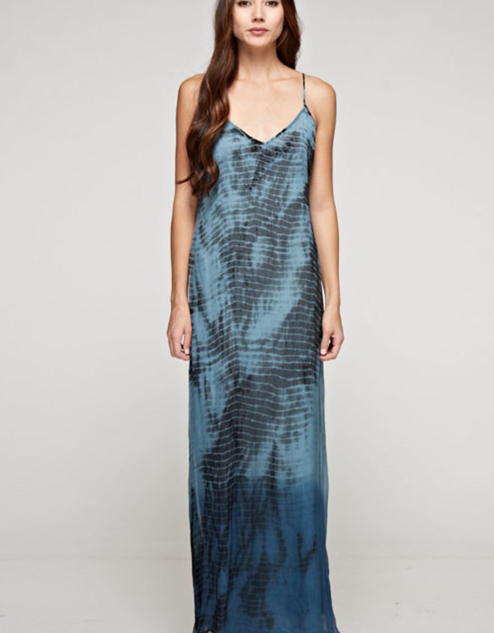 Lovestitch Ombre Tie Dye Maxi Slip Dress
