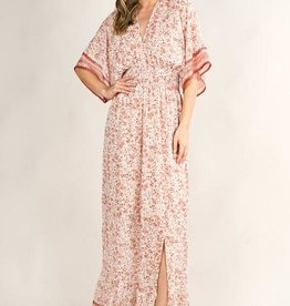 Lovestitch Floral Printed Kimono Maxi Dress