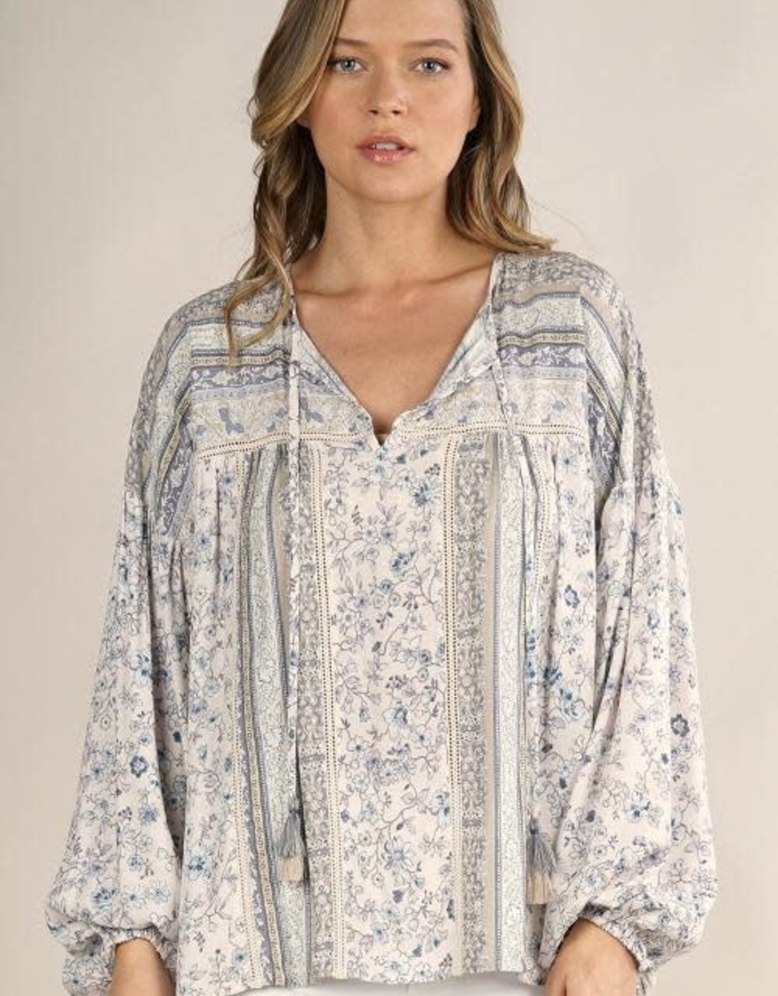 Lovestitch Floral Peasant Top