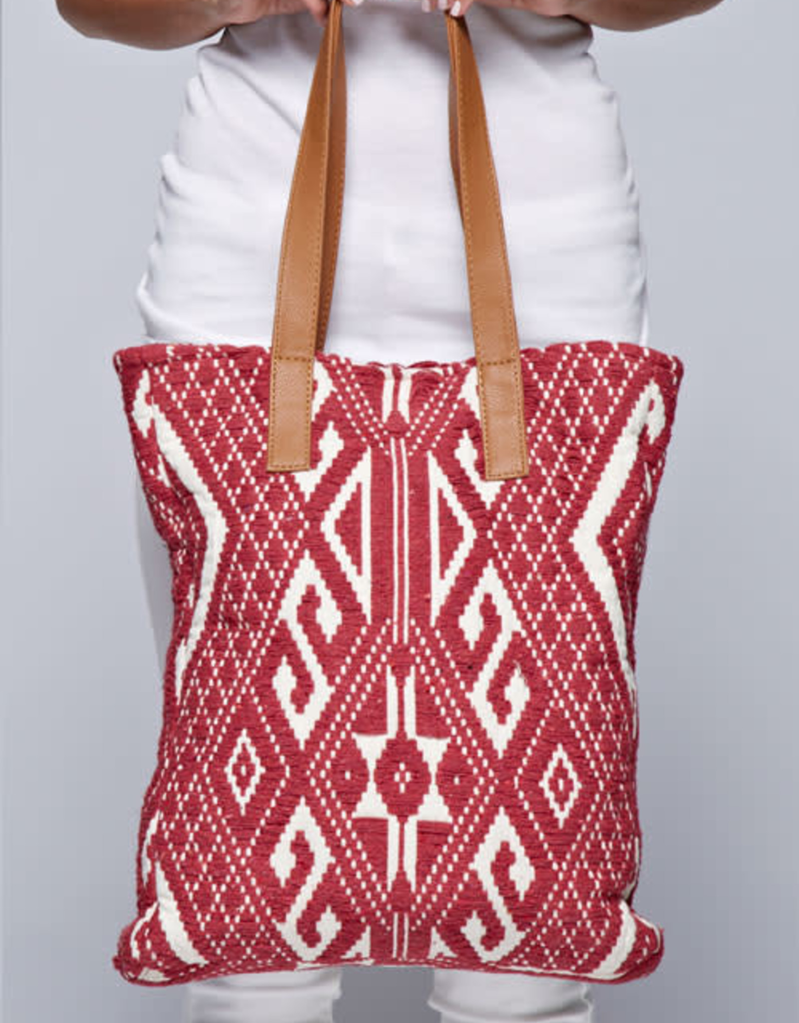 Lovestitch Red Canvas Tote