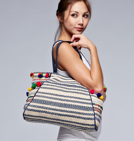 Lovestitch Multicolor Striped Tote