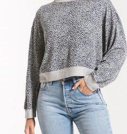 Z Supply Leopard Long Sleeve Tee Shirt