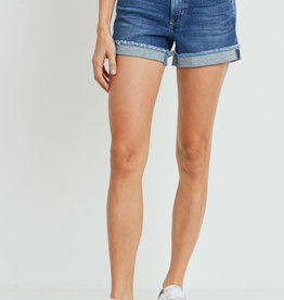 Just Black Cuffed Denim Shorts