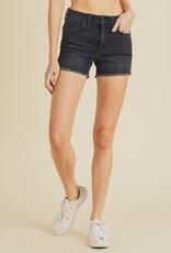 Just Black Frayed Hem Shorts