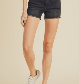 Just Black Frayed Hem Shorts