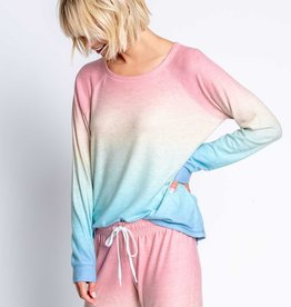 PJ Salvage Rainbow Ombre Pullover