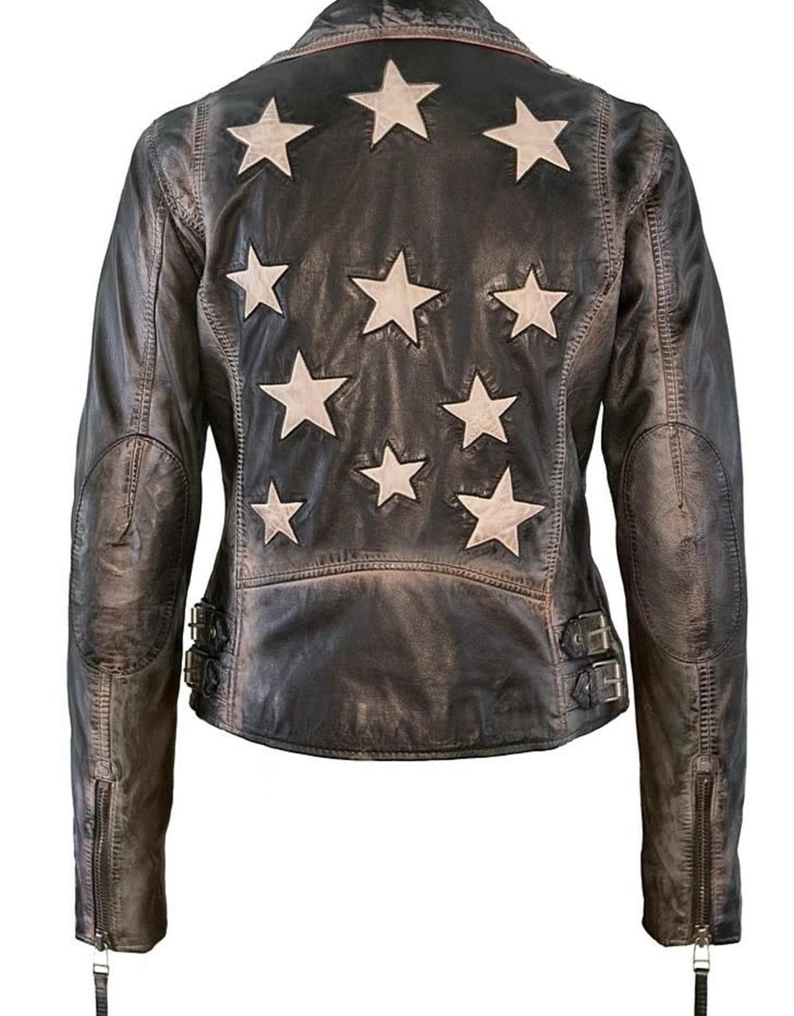 Mauritius  Christy Leather Jacket Vintage Black